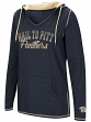 "Pittsburgh Panthers Women's NCAA ""Scream It"" V-neck Hooded Sweatshirt"