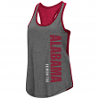 "Alabama Crimson Tide Women's NCAA ""Share It"" Dual Blend Racer Back Tank Top"