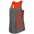 "Clemson Tigers Women's NCAA ""Share It"" Dual Blend Racer Back Tank Top"