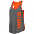 "Miami Hurricanes Women's NCAA ""Share It"" Dual Blend Racer Back Tank Top"