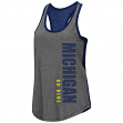 "Michigan Wolverines Women's NCAA ""Share It"" Dual Blend Racer Back Tank Top"