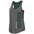 "Michigan State Spartans Women's NCAA ""Share It"" Dual Blend Racer Back Tank Top"