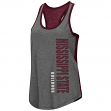 "Mississippi State Bulldogs Women's NCAA ""Share It"" Dual Blend Racerback Tank Top"