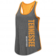 "Tennessee Volunteers Women's NCAA ""Share It"" Dual Blend Racer Back Tank Top"
