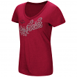 "Arkansas Razorbacks Women's NCAA ""Big Sweet'"" Dual Blend V-neck T-Shirt"