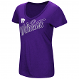 "Kansas State Wildcats Women's NCAA ""Big Sweet'"" Dual Blend V-neck T-Shirt"
