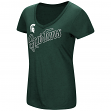 "Michigan State Spartans Women's NCAA ""Big Sweet'"" Dual Blend V-neck T-Shirt"