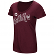 "Mississippi State Bulldogs Women's NCAA ""Big Sweet'"" Dual Blend V-neck T-Shirt"