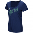 "Notre Dame Fighting Irish Women's NCAA ""Big Sweet'"" Dual Blend V-neck T-Shirt"