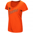 "Oregon State Beavers Women's NCAA ""Big Sweet'"" Dual Blend V-neck T-Shirt"