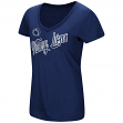 "Penn State Nittany Lions Women's NCAA ""Big Sweet'"" Dual Blend V-neck T-Shirt"