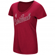 "Stanford Cardinal Women's NCAA ""Big Sweet'"" Dual Blend V-neck T-Shirt"