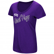 "TCU Horned Frogs Women's NCAA ""Big Sweet'"" Dual Blend V-neck T-Shirt"