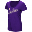 "Washington Huskies Women's NCAA ""Big Sweet'"" Dual Blend V-neck T-Shirt"