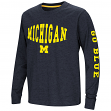 "Michigan Wolverines NCAA ""Touchdown"" Youth Dual Blend Long Sleeve T-Shirt"