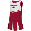 "Arkansas Razorbacks NCAA Toddler ""Pom Pom"" 2 Piece Set Cheerleader Outfit"
