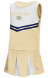 "Georgia Tech Yellowjackets NCAA Toddler ""Pom Pom"" 2 Piece Set Cheerleader Outfit"