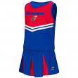 "Kansas Jayhawks NCAA Toddler ""Pom Pom"" 2 Piece Set Cheerleader Outfit"