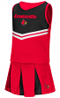 "Louisville Cardinals NCAA Toddler ""Pom Pom"" 2 Piece Set Cheerleader Outfit"