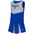 "Memphis Tigers NCAA Toddler ""Pom Pom"" 2 Piece Set Cheerleader Outfit"