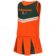 "Miami Hurricanes NCAA Toddler ""Pom Pom"" 2 Piece Set Cheerleader Outfit"