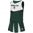 "Michigan State Spartans NCAA Toddler ""Pom Pom"" 2 Piece Set Cheerleader Outfit"