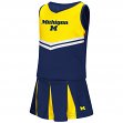"Michigan Wolverines NCAA Toddler ""Pom Pom"" 2 Piece Set Cheerleader Outfit"