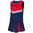 Mississippi Ole Miss Rebels NCAA Toddler Pom Pom 2 Piece Set Cheerleader Outfit