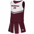 "Mississippi State Bulldogs NCAA Toddler ""Pom Pom"" 2 Piece Set Cheerleader Outfit"