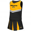 "Missouri Tigers NCAA Toddler ""Pom Pom"" 2 Piece Set Cheerleader Outfit"