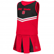 """North Carolina State Wolfpack Toddler """"Pom Pom"""" 2 Piece Set Cheerleader Outfit"""