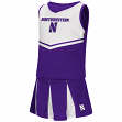 "Northwestern Wildcats NCAA Toddler ""Pom Pom"" 2 Piece Set Cheerleader Outfit"