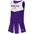 "TCU Horned Frogs NCAA Toddler ""Pom Pom"" 2 Piece Set Cheerleader Outfit"