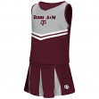 "Texas A&M Aggies NCAA Toddler ""Pom Pom"" 2 Piece Set Cheerleader Outfit"