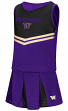"Washington Huskies NCAA Toddler ""Pom Pom"" 2 Piece Set Cheerleader Outfit"