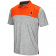 "Miami Hurricanes NCAA ""Clear Sailing"" Men's Performance Woven Polo Shirt"