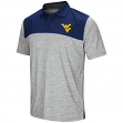 West Virginia Mountaineers NCAA Clear Sailing Men's Performance Woven Polo Shirt