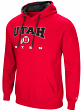 "Utah Utes NCAA ""Playbook"" Pullover Hooded Men's Sweatshirt - Red"