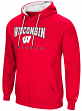 "Wisconsin Badgers NCAA ""Playbook"" Pullover Hooded Men's Sweatshirt - Red"