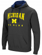 "Michigan Wolverines NCAA ""Playbook"" Pullover Hooded Men's Sweatshirt - Charcoal"