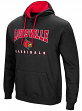 "Louisville Cardinals NCAA ""Playbook"" Pullover Hooded Men's Sweatshirt - Black"