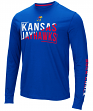 "Kansas Jayhawks NCAA ""Field Goal"" Men's Dual Blend Long Sleeve T-Shirt"
