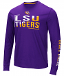 "LSU Tigers NCAA ""Field Goal"" Men's Dual Blend Long Sleeve T-Shirt"