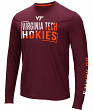 "Virginia Tech Hokies NCAA ""Field Goal"" Men's Dual Blend Long Sleeve T-Shirt"