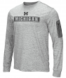 "Michigan Wolverines NCAA ""Banked"" Men's Long Sleeve Pocket T-Shirt"