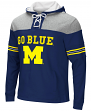 "Michigan Wolverines NCAA ""Power Play"" Pullover Hooded Men's Sweatshirt"