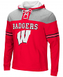 "Wisconsin Badgers NCAA ""Power Play"" Pullover Hooded Men's Sweatshirt"