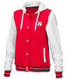 "Nebraska Cornhuskers Women's NCAA ""Halfpipe"" Hooded Varsity Jacket"