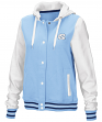 "North Carolina Tarheels Women's NCAA ""Halfpipe"" Hooded Varsity Jacket"