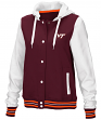 "Virginia Tech Hokies Women's NCAA ""Halfpipe"" Hooded Varsity Jacket"